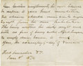 """Autographs:Military Figures, General George A. Custer Autograph Letter Signed in the Third Person 1p., 7.75"""" x 6.25"""", Fort Lincoln, D[akota]. T[erritory]..."""