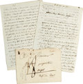 Autographs:Non-American, Manuscript Archive Regarding Napoleon's Arrival at Elba AnAutograph Letter Signed by Alexis Boyer, French anatomist andNap... (Total: 3 )