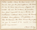 "Autographs:Non-American, (Napoleon Bonaparte) Marie Louise, Autograph Letter Signed""Marie Louise"", one page, 4.25 x 3.5 inches (sight), [noplac..."