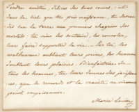 """(Napoleon Bonaparte) Marie Louise, Autograph Letter Signed """"Marie Louise"""", one page, 4.25 x 3.5 inches (sight)..."""