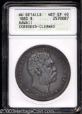 Coins of Hawaii: , 1883 $1 Hawaii Dollar--Corroded, Cleaned--ANACS. AU ...