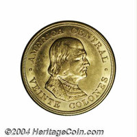 Republic. Gold 20 Colones 1899, KM141, choice AU-BU, fully lustrous and very attractive....(PCGS# 1021)