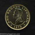 Philippines: , Republic. Gold 1000 Piso 1975, KM213, nice Proof, 3rd ...