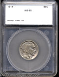 Additional Certified Coins: , 1914 5C Nickel MS65 SEGS (MS64). Rose, electric-blue, and ...