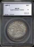 Additional Certified Coins: , 1880-O $1 Morgan Dollar MS63 Questionable Toning SEGS (...