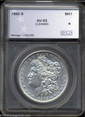 Additional Certified Coins: , 1892-S $1 Morgan Dollar AU53 SEGS (AU53 Cleaned). This ...