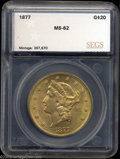 Additional Certified Coins: , 1877 $20 Double Eagle MS62 SEGS (MS61). A well struck and ...