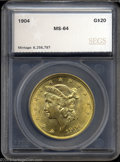 Additional Certified Coins: , 1904 $20 Double Eagle MS64 SEGS (MS63). Booming luster ...
