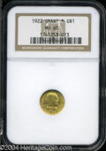 Commemorative Gold: , 1922 Grant with Star MS65 NGC. ...