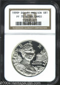 Modern Issues: , 1999-P Dolley Madison Silver Dollar PR 70 Deep Cameo NGC. ...