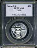 Modern Bullion Coins: , 2000 Half-Ounce Platinum Eagle MS68 PCGS. ...