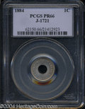 Patterns: , 1884 One Cent, Judd-1721, Pollock-1929, R.5, PR 66 PCGS. ...