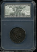 1722 1/2P Rosa Americana Halfpenny, UTILE AU50 Details, Corroded, NCS. Breen-134. Very close to Mint State in terms of s...