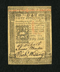 Colonial Notes:Pennsylvania, Pennsylvania October 1, 1773 50s Very Choice New....