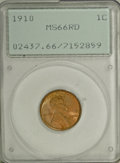 Lincoln Cents, 1910 1C MS66 Red PCGS....