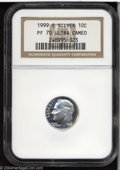 Proof Roosevelt Dimes: , 1999-S Silver PR 70 Deep Cameo NGC. ...