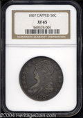Bust Half Dollars: , 1807 50C Capped Bust, Small Stars XF45 NGC.