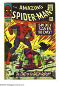 Silver Age (1956-1969):Superhero, Amazing Spider-Man #40 (Marvel, 1966) Condition: VG+. First told origin story of Green Goblin. John Romita Sr. cover and art...