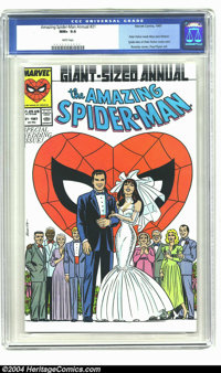 The Amazing Spider-Man Annual #21 (Marvel, 1987) CGC NM+ 9.6 White pages. Peter Parker weds Mary Jane Watson. John Romit...