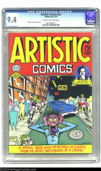 Artistic Comics #nn (Golden Gate, 1973) CGC NM 9.4 Off-white to white pages. Robert Crumb cover and art. Overstreet does...