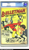 Golden Age (1938-1955):Superhero, Bulletman #12 (Fawcett, 1943) CGC FN- 5.5 Off-white to white pages. Robot cover. To date, only one copy of this issue has be...