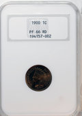Proof Indian Cents, 1900 1C PR66 Red NGC....