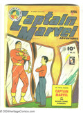 Golden Age (1938-1955):Science Fiction, Captain Marvel Adventures #45 (Fawcett, 1945) Condition: GD+.Captain Marvel battles the Blood Bank Robbers. Overstreet 2003...