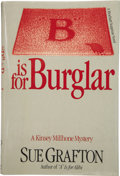 "Books:First Editions, Sue Grafton. ""B"" is for Burglar. New York: Holt, Rinehartand Winston [1985]...."