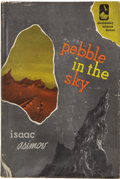 Books:First Editions, Isaac Asimov. Pebble in the Sky. Garden City: Doubleday andCompany, Inc., 1950....