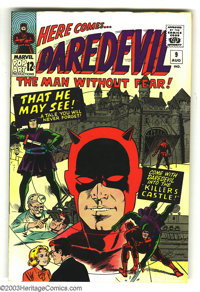 Daredevil #9 (Marvel, 1965) Condition: VF. Bob Powell and Wally Wood art. Overstreet 2003 VF 8.0 value = $106
