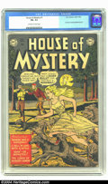 Golden Age (1938-1955):Horror, House of Mystery #1 (DC, 1952) CGC FN- 5.5 Off-white to whitepages. First horror comic published by DC. Overstreet 2003 FN ...