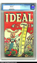 "Golden Age (1938-1955):Funny Animal, Ideal Comics #2 ""D"" Copy pedigree (Timely, 1944) CGC NM- 9.2 Creamto off-white pages. Super Rabbit appears. Highest-graded ..."
