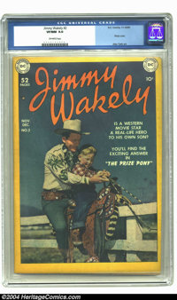 Jimmy Wakely #2 (DC, 1949) CGC VF/NM 9.0 Off-white pages. Second issues are usually far more difficult to find than firs...