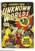 """Golden Age (1938-1955):Science Fiction, Journey into Unknown Worlds 37 (#2) (Atlas, 1950) Condition: GD/VG.""""When Worlds Collide"""" cover art by Bill Everett. Hitler ..."""
