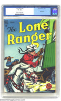 Golden Age (1938-1955):Western, The Lone Ranger #8 (Dell, 1949) CGC VF+ 8.5 Cream to off-white pages. Origin retold. Indian drawing on back cover begins. Ti...