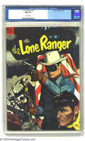 Golden Age (1938-1955):Western, The Lone Ranger #76 (Dell, 1954) CGC NM- 9.2 Off-white pages. Classic flag cover. Highest-graded copy yet assigned by CGC. O...