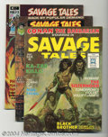 Bronze Age (1970-1979):Miscellaneous, Savage Tales Issues #1-5 Group (Marvel, 1971-74) Condition:Average. First five magazine-sized issues featuring art by Barry...(Total: 5 Comic Books Item)