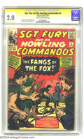 Silver Age (1956-1969):War, Sgt. Fury and His Howling Commandos #6 (Marvel, 1964) CGC GD 2.0 Cream to off-white pages. Signature Series. Jack Kirby cove...