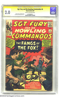 Sgt. Fury and His Howling Commandos #6 (Marvel, 1964) CGC GD 2.0 Cream to off-white pages. Signature Series. Jack Kirby...