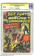 Silver Age (1956-1969):War, Sgt. Fury and His Howling Commandos #8 (Marvel, 1964) CGC GD/VG 3.0 Cream to off-white pages. Signature Series. Baron Zemo a...