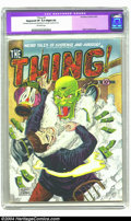 "Golden Age (1938-1955):Horror, The Thing! #3 (Charlton, 1952) CGC Apparent VF 8.0 Slight (A)Off-white pages. Bob Forgione art. CGC notes, ""Restoration inc..."