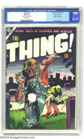 Golden Age (1938-1955):Horror, The Thing! #16 Double Cover (Charlton, 1954) CGC VF+ 8.5 Off-whitepages. Injury to the eye panel. Dick Ayers art. CGC notes...