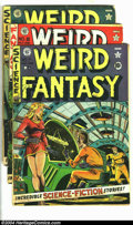 Golden Age (1938-1955):Science Fiction, Weird Fantasy Group (EC, 1951) Condition: Average GD-. Four earlyissues -- #7 has heavy color touch and tape on cover; #8 h...(Total: 4 Comic Books Item)