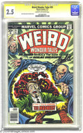 Bronze Age (1970-1979):Horror, Weird Wonder Tales #20 (Marvel, 1977) CGC GD+ 2.5 Cream tooff-white pages. Signature Series. Jack Kirby and Joe Sinnottcov...