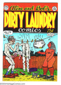 "Bronze Age (1970-1979):Alternative/Underground, Dirty Laundry #nn (#1) (Cartoonists Co-op Press, 1974) Condition: VF/NM. Hardcore ""family"" comics from Robert Crumb and wife..."
