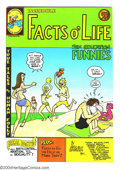 """Bronze Age (1970-1979):Alternative/Underground, Facts o' Life Funnies nn (Underground Health Department, 1972). """"Sex Education"""" comix by Gilbert Shelton, R. Crumb, Bobby Lo..."""