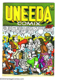 Uneeda Comix #1 (Print Mint, 1971) Condition: VF+. Robert Crumb art. Not listed in Overstreet Price Guide