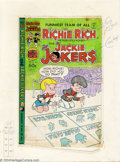 Original Comic Art:Miscellaneous, Ernie Colon -Original Production Art, Cover Color Guide for RichieRich and Jackie Jokers #46 (Harvey, 1982). This is a phot...