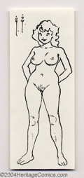 Original Comic Art:Sketches, Frank Frazetta - Original Cute Nude Sketch (No Publisher, undated). This lovely little nude female figure has a bit of the c...