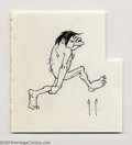 Original Comic Art:Sketches, Frank Frazetta - Original Sketch of Comical Caveman (undated). Simply illustrated pencil and ink sketch of a humorous Neande...